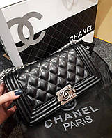 Люкс-реплика Chanel le boy черная