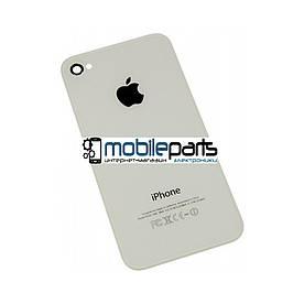 Задняя панель корпуса (крышка) для Apple iPhone 4S (Качество ААА) (Белая)