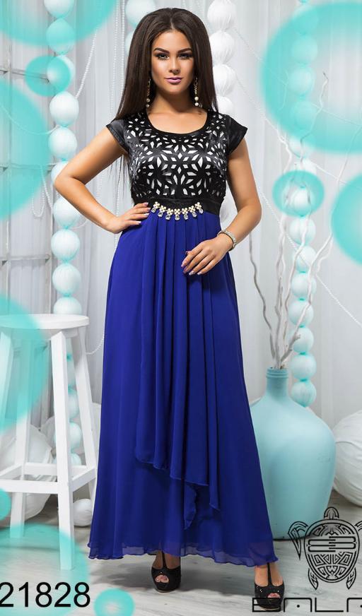 Красивое вечернее платье синего цвета в пол недорого в Украине России  интернет-магазин ( р 3a255c26326