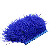 Перья Страуса на ленте Синие 8-10 см/50 см, фото 1
