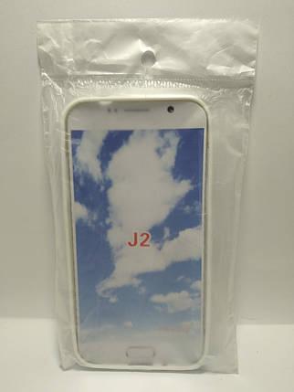 Силіконовий чохол Samsung Galaxy J2 білий, фото 2