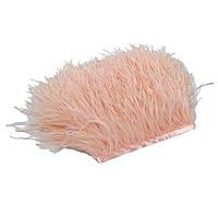 Перья Страуса на ленте Розовый персик 8-10 см/50 см