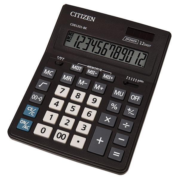 Калькулятор Citizen CDB1201-BK настольный, 12р.