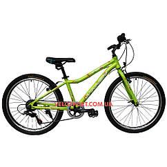 Подростковый велосипед Winner Candy 24 дюйма зеленый