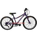 Подростковый велосипед Winner Candy 24 дюйма фиолетовый