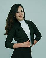 Пиджак школьный для девочки м-956 рост 152 зеленый
