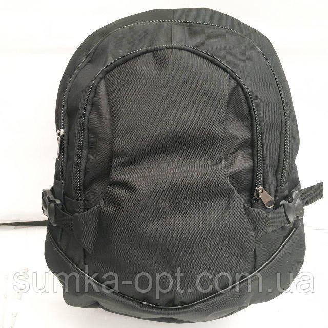 Рюкзаки спорт стиль текстиль (черный)30*44