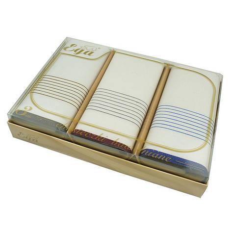 Світлі носові хустки в подарунковій упаковці Ega 3 шт 0100-1 С, фото 2