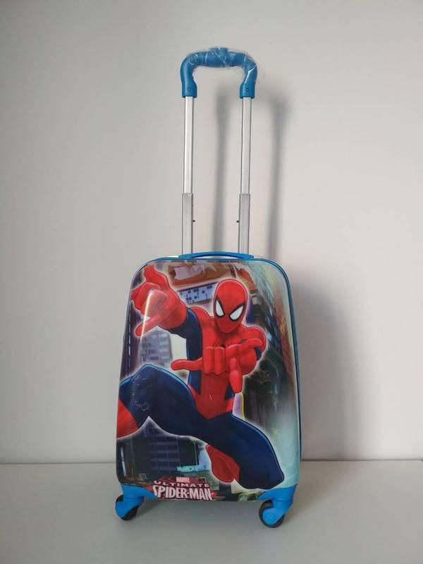 Пластиковый чемодан на колесах для мальчика Человек Паук, фото 1