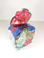 Новогодняя коробка для конфет №009а( Мешок с подарками 500гр) (25 шт)