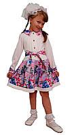 Платье  детское с длинным рукавом   М -963  рост 98 и 104 трикотажное, фото 1
