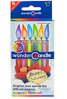 Свечи - цветные огни,6 шт ( коробка )