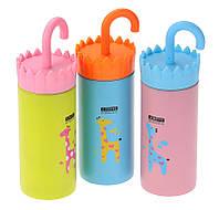"""Термос """"зонтик - ручка"""" -  жираф,3 цвета"""
