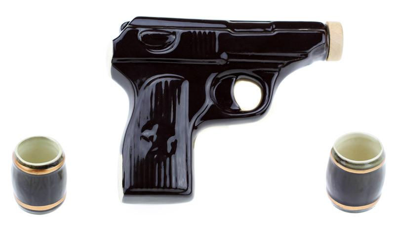 Коньячный набор Пистолет Макарова, 3 предмета
