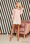 Женское прямое платье-рубашка с кружевом (3 цвета), фото 8