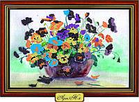 """Схема для вышивки бисером """"Букет цветов в сиреневой вазе"""""""