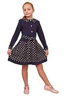Платье  детское с длинным рукавом   М -963  рост  122 трикотажное, фото 1