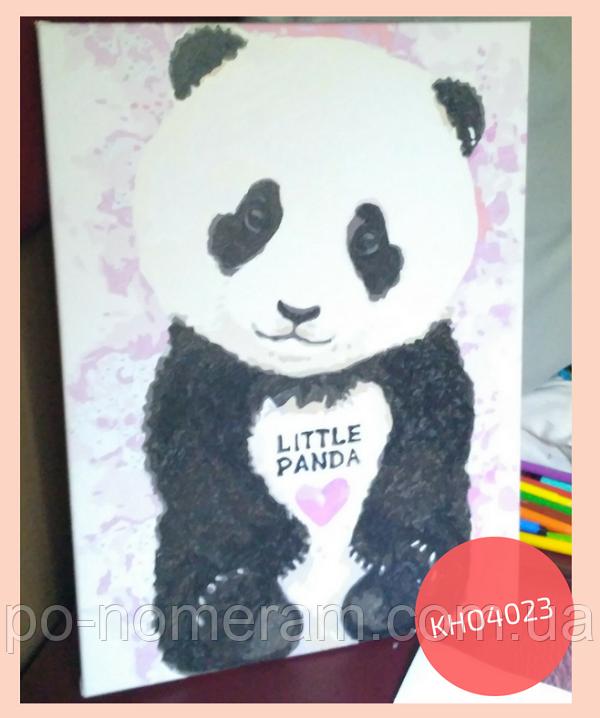 раскраска по номерам панда