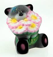 Копилка Мишка с цветочками,3 цвета