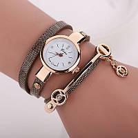 Женские часы браслет коричневые