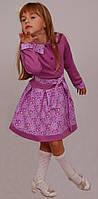 Платье  детское с длинным рукавом   М -963  рост 98  трикотажное