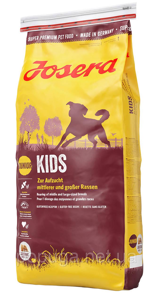 Josera Dog Kids корм для щенков средних и крупных пород, 15 кг