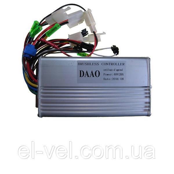 Контроллер для электровелосипеда DAAO 28A 48В 500-800Вт