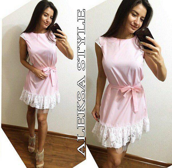 3664293e44d Женское летние платье со вставкой кружева   продажа