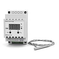 Терморегулятор для высоких температур цифровой на DIN-рейку DEUS ELECTRO ТР-500 (10А, 220В)