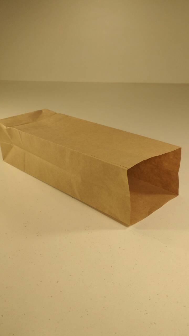 Пакет с дном бумажный 21,5*9*6,5  коричневый №12 (25 шт)