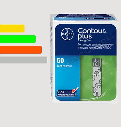 Тест-полоски для глюкометра Contour PLUS #50 -  Контур ПЛЮС тест полоски  #50 шт, фото 2