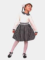 Платье  детское с длинным рукавом   М -964  рост 104 и 122  трикотажное