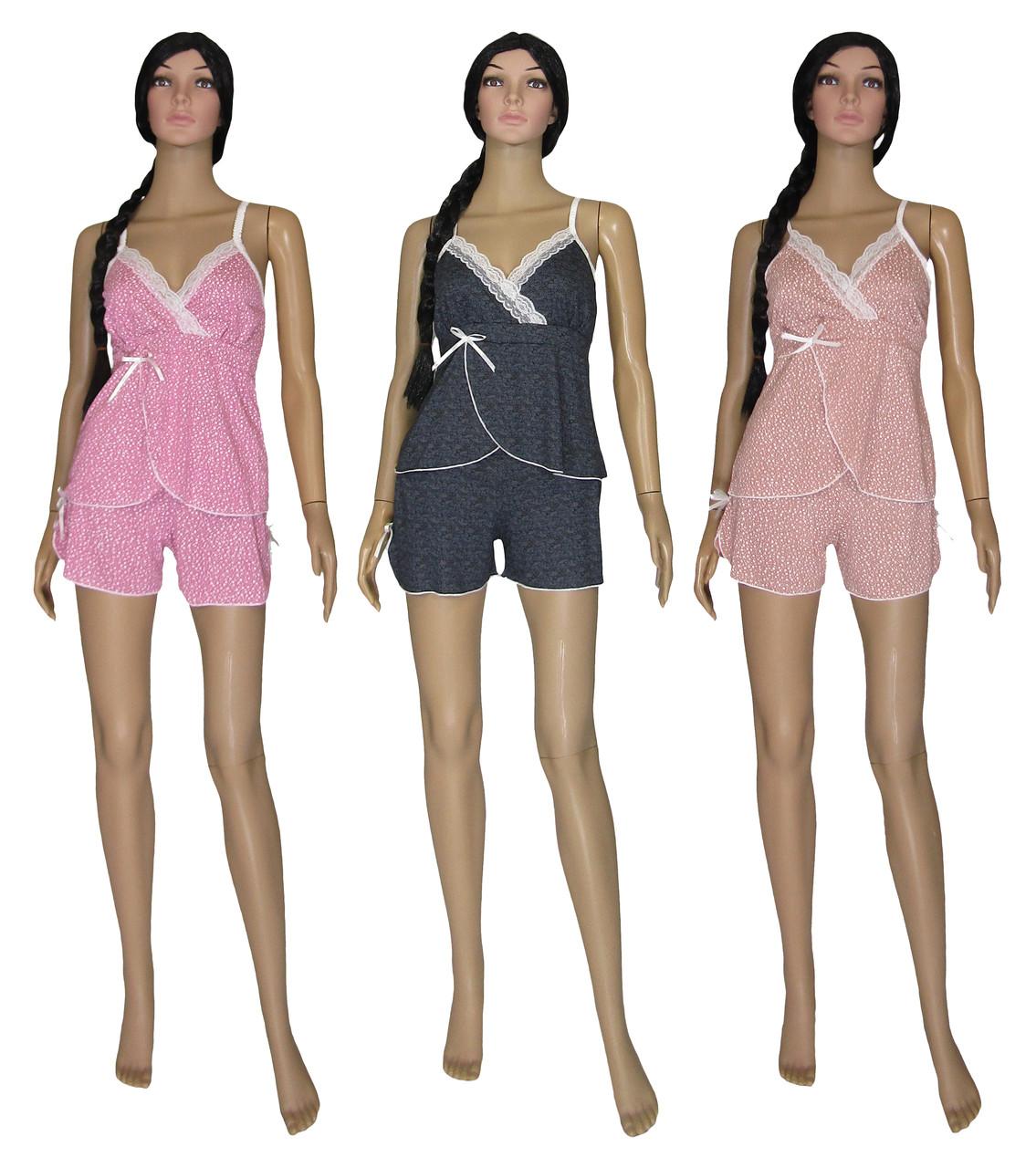 Пижама женская 03221-3 Charm бамбук, майка и шорты, р.р.40-54