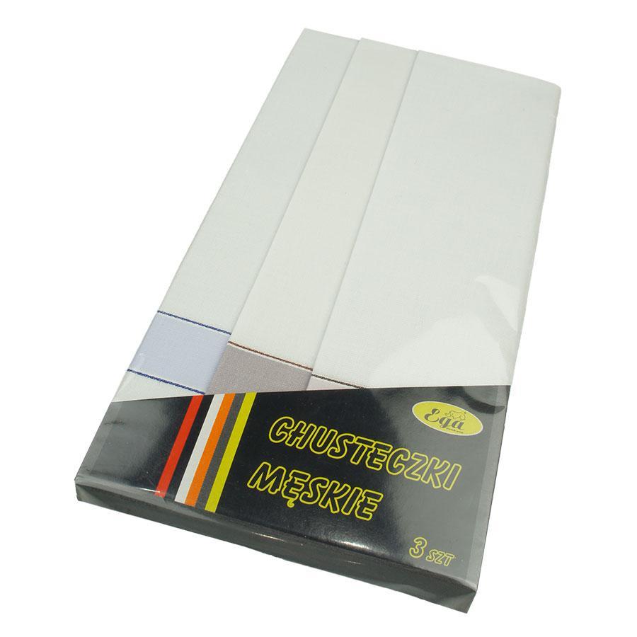 Носові хустки в світлому кольорі для чоловіків Ega 3 шт 0105С