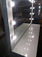 Гримерный столик с подсветкой и защитным стеклом на столешнице А162, фото 1