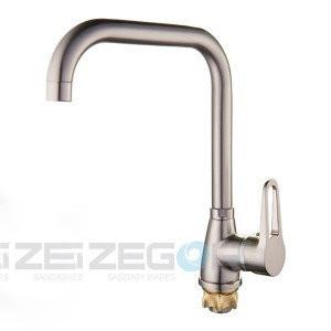 Змішувач для кухні Zegor Z83-SOP4-A-KH нержавійка