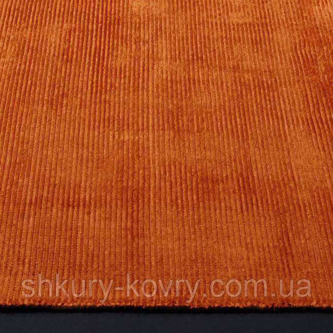 Оранжевый ковер в зал, натуральные современные ковры