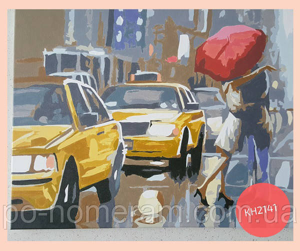 раскраска по номерам такси