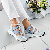 Кроссовки женские открытые голубые, фото 1