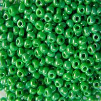 Чешский бисер для рукоделия Preciosa (Прециоза) оригинал 50г 33119-58230-10 зеленый