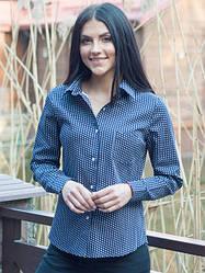 Офисная рубашка с длинным рукавом джинс