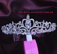 Корона, диадема для конкурса, в серебре высота 5 см., фото 1