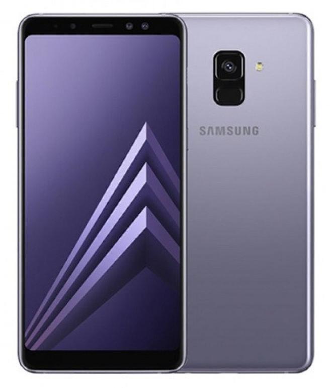 """Смартфон Samsung Galaxy A8 2018 4/32GB Orchid Gray, 16/16+8Мп, 5,6"""" AMOLED, 3000mAh, 2sim, Exynos 7885, 12 мес"""