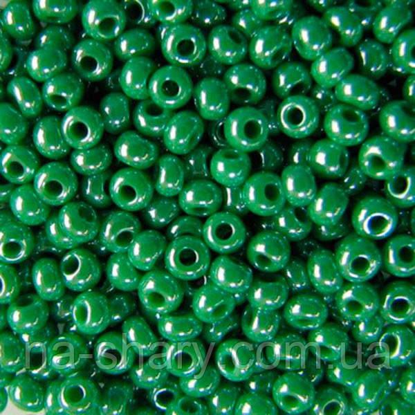 Чешский бисер для рукоделия Preciosa (Прециоза) оригинал 50г 33119-58250-10 зеленый