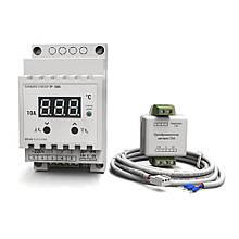 Терморегулятор для высоких температур цифровой на DIN-рейку DEUS ELECTRO ТР-1000 (10А, 220В, 650°C)