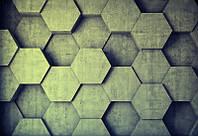 Фотообои ArtWalls 3D фотообои: Бетонные соты 3D-12 Глянец