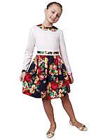 Платье  детское с длинным рукавом   М -964  рост  116 и 122  трикотажное, фото 1
