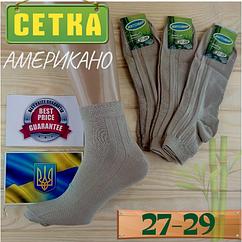 Носки мужские с сеткой Житомир бамбук 27-29  размер. американо НМЛ-06507