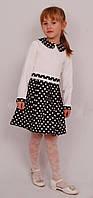Платье  детское с длинным рукавом   М -964  рост 98 трикотажное