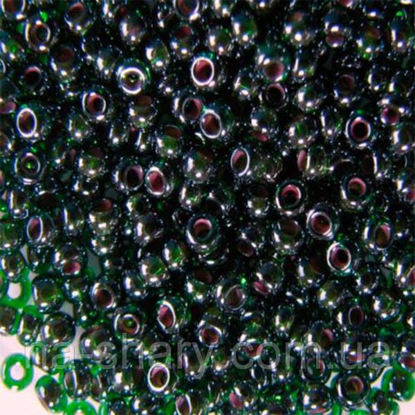 Чешский бисер для рукоделия Preciosa (Прециоза) оригинал 50г 33119-51128-10 Зеленый
